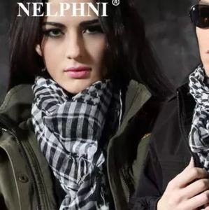 Black and white scarf (keffiyeh)